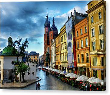 Romance In Krakow Canvas Print by Kasia Bitner