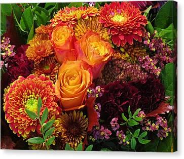Romance Of Autumn Canvas Print by Rosita Larsson