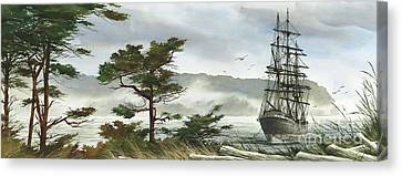Tall Ship Canvas Print - Romance Of Sailing by James Williamson