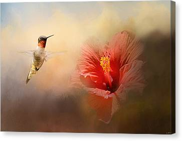 Romancing The Hibiscus Canvas Print by Jai Johnson