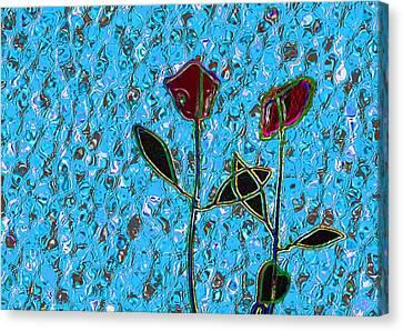 Romancing The Rose Canvas Print by Morgan Rex