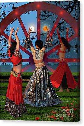 Romani Dance Canvas Print by Mira Ostojic