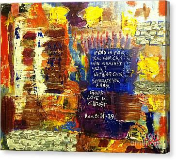 Romans Eight Thirtyone To Thirtynine Canvas Print by Charlie Harris