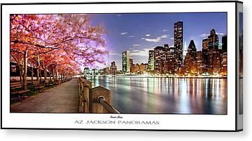 Cherry Blossoms Canvas Print - Romantic Blooms Poster Print by Az Jackson