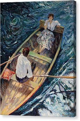 Dordogne , Beynac-et-cazenac , France ,romantic Boat Trip Canvas Print