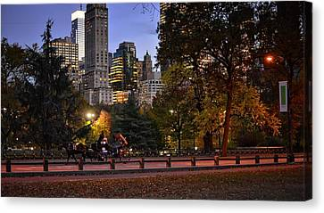 Romantic Carriage Ride Canvas Print by Jim Archer