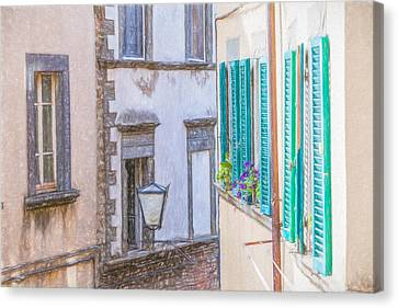 Romantic Cortona Canvas Print by David Letts