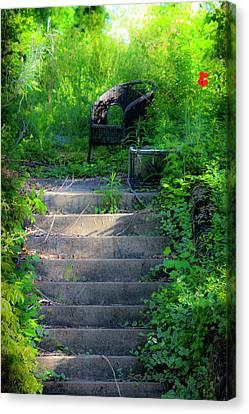 Romantic Garden Scene Canvas Print by Teresa Mucha