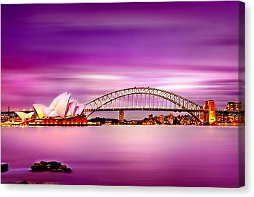 Romantic Harbour  Canvas Print by Az Jackson