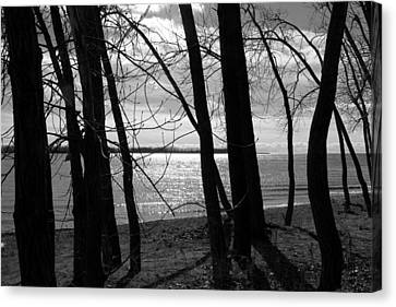 Canvas Print featuring the photograph Romantic Lake by Valentino Visentini