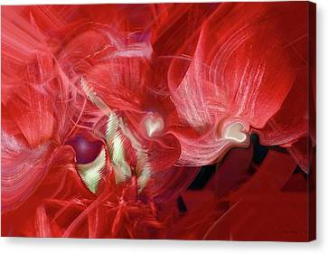 Romantic Love Canvas Print by Linda Sannuti