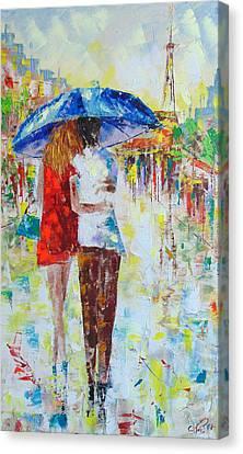 Romantic Paris Canvas Print