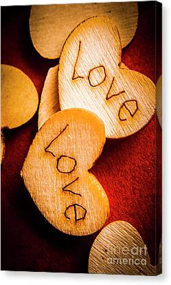 Romantic Wooden Hearts Canvas Print by Jorgo Photography - Wall Art Gallery