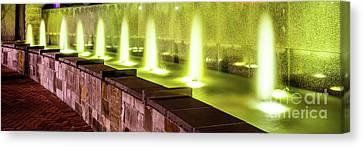Romare Bearden Park Fountain Panorama Photo Canvas Print by Paul Velgos