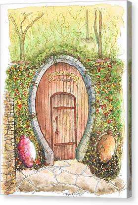 Rombauer Vineyard Entrance Door, California Canvas Print