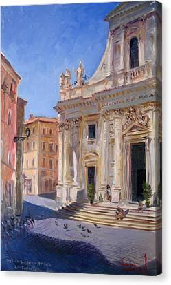 Dei Canvas Print - Rome Basilica S Giovanni Battista Dei Fiorentini by Ylli Haruni