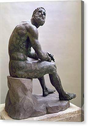 Rome Boxer Sculpture Canvas Print