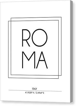 Rome City Print With Coordinates Canvas Print