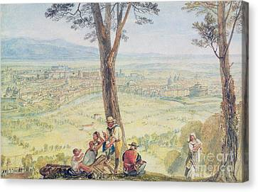 Rome From Monte Mario Canvas Print by Joseph Mallord William Turner