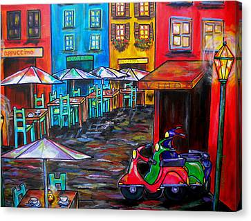 Rome In Twilight Canvas Print by Patti Schermerhorn