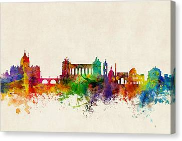 Rome Italy Skyline Canvas Print by Michael Tompsett