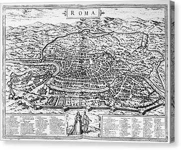 Rome: Map, 1576 Canvas Print