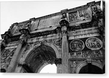 Rome - The Arch Of Constantine Canvas Print by Andrea Mazzocchetti