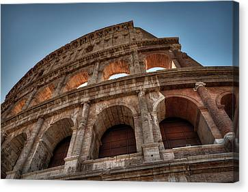 Canvas Print featuring the photograph Rome - The Colosseum 003 by Lance Vaughn