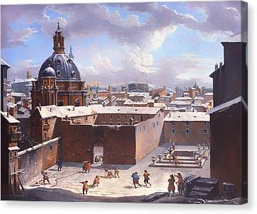 Rome Under The Snow Canvas Print by Mountain Dreams