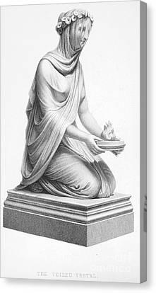 Rome: Vestal Virgin Canvas Print by Granger