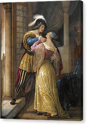 Romeo And Juliet Canvas Print by Francesco Hayes