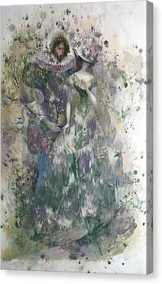 Romeo And Juliet. Monotype Canvas Print by Valentina Kondrashova