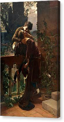 Romeo And Juliet On The Balcony Canvas Print
