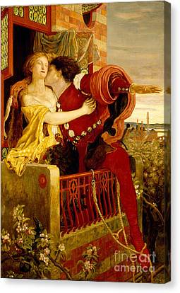 Romeo And Juliet Parting On The Balcony Canvas Print by MotionAge Designs