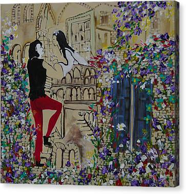 Romeo And Juliet. Canvas Print by Sima Amid Wewetzer