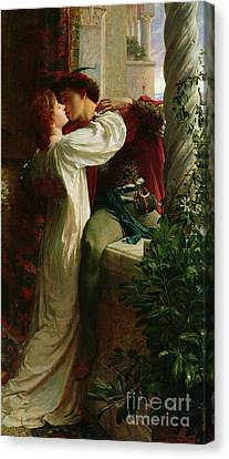 Passionate Lovers Canvas Print - Romeo And Juliet by Sir Frank Dicksee