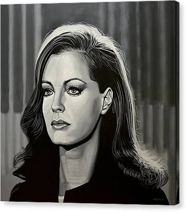 Woodies Canvas Print - Romy Schneider by Paul Meijering