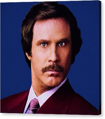 Ron Burgundy Canvas Print by Dan Sproul