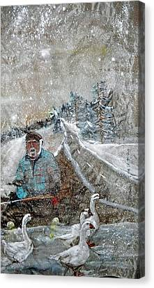 Canvas Print featuring the painting Ron In A Rut by Debbi Saccomanno Chan