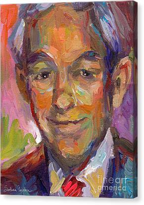 Custom Canvas Print - Ron Paul Art Impressionistic Painting  by Svetlana Novikova