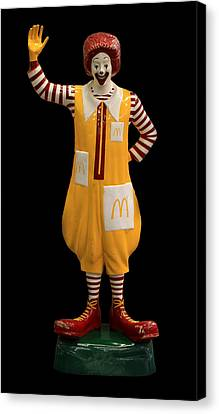 Ronald Mcdonald Canvas Print by Andrew Fare