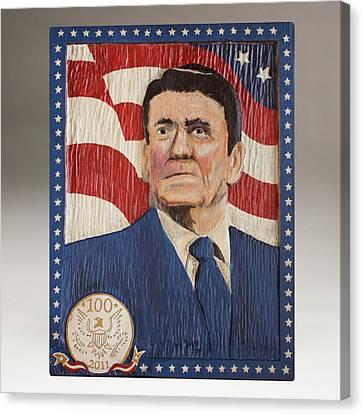 Ronald Reagan Centennial Celebration Canvas Print by James Neill