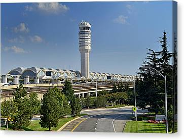 Ronald Reagan National Airport Canvas Print by Brendan Reals