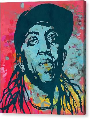 Ronald Slim Williams Pop Art Poser Canvas Print by Kim Wang