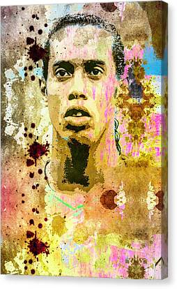 Ronaldinho Gaucho Canvas Print by Svelby Art