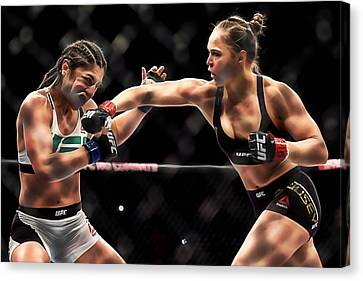 Boxer Canvas Print - Ronda Jean Rousey  by Marvin Blaine
