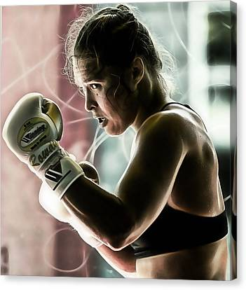 Ronda Rousey Mma Canvas Print by Marvin Blaine