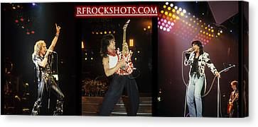 Ronnie James Dio, Eddie Van Halen And Steve Perry Canvas Print by Rich Fuscia