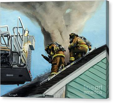 Roof Is Open Canvas Print by Paul Walsh