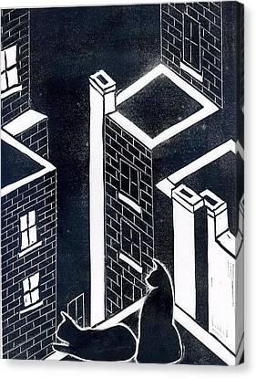 Rooftop Canvas Print - Roof Patrol by David Crown